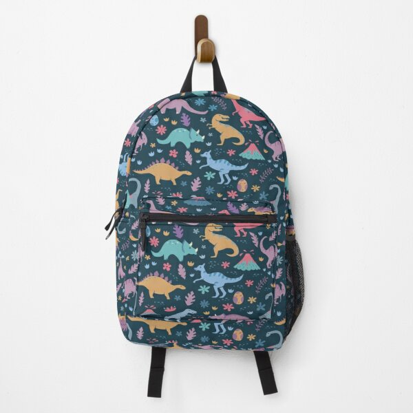 Dinosaur Pattern with Flowers and Volcanoes  Backpack