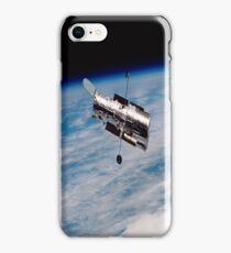 Hubble Orbiting Earth iPhone Case iPhone Case/Skin