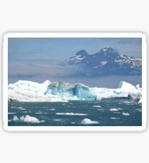 Icebergs on Prince William Sound Sticker