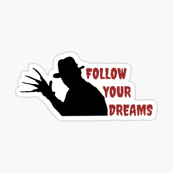 Freddy Krueger Silhouette Design Sticker