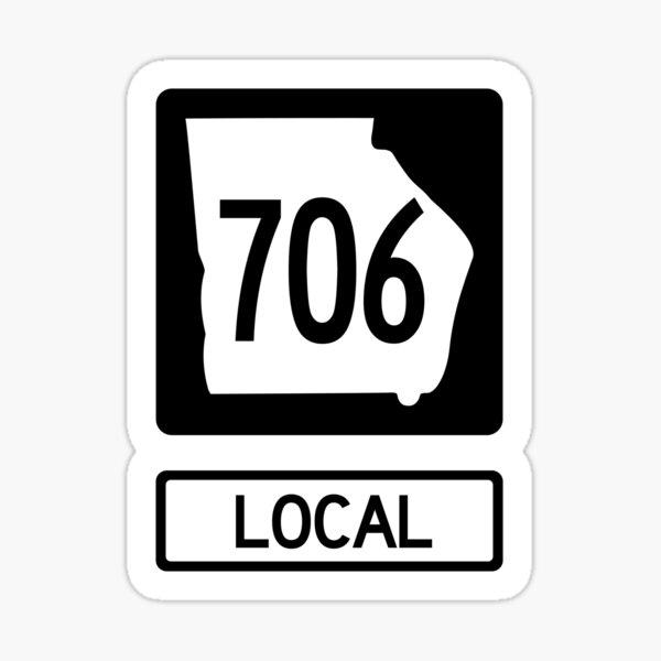 Georgia State Route 706 Local (Area Code 706) Sticker