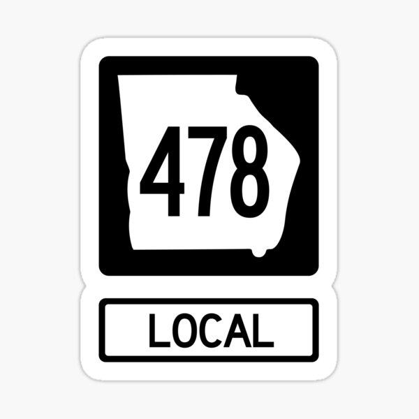Georgia State Route 478 Local (Area Code 478) Sticker