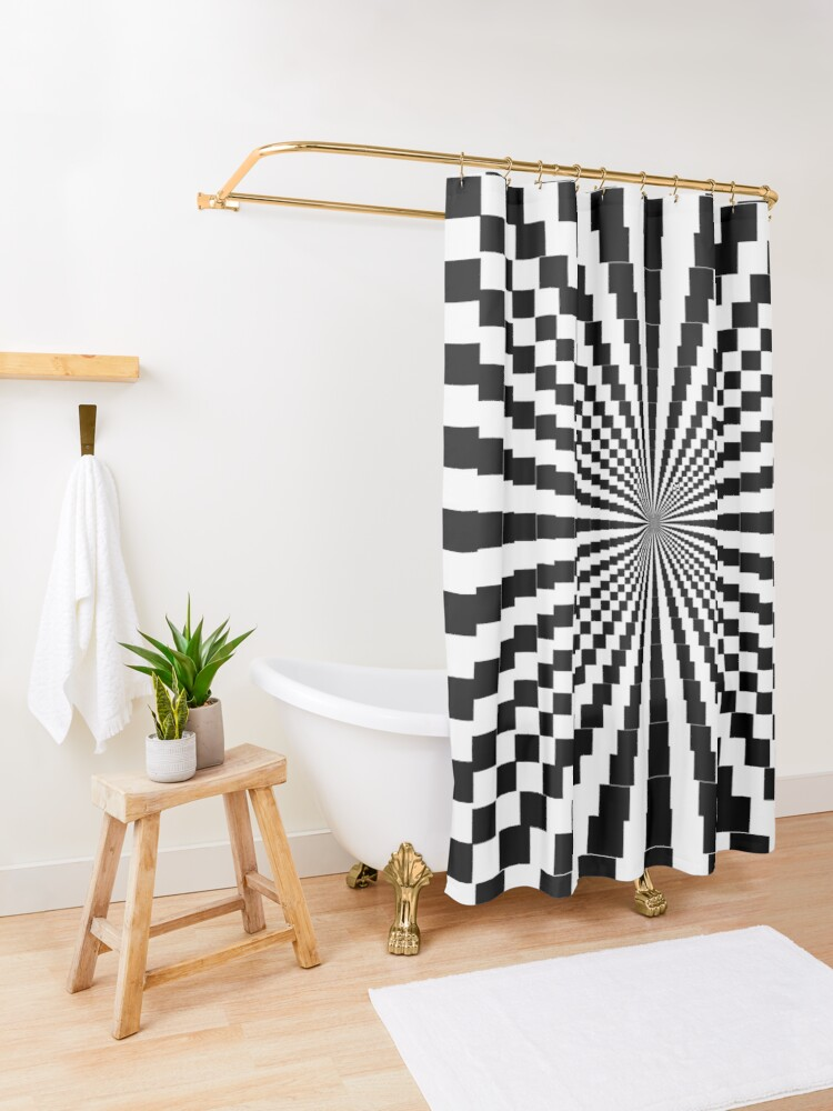 Alternate view of Scientific, Artistic, and Psychedelic Prints on Awesome Products Shower Curtain