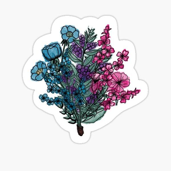 Water color flower bouquet  Sticker