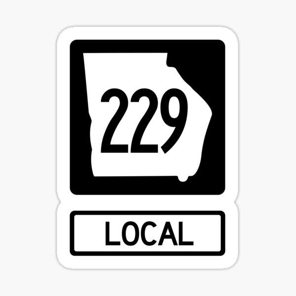 Georgia State Route 229 Local (Area Code 226) Sticker