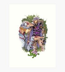 JoJo's Bizarre Adventure - Gyro & Johnny Joestar Art Print
