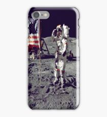 Cernan Jump Salutes Flag iPhone Case iPhone Case/Skin
