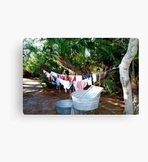 Old timey washing Canvas Print