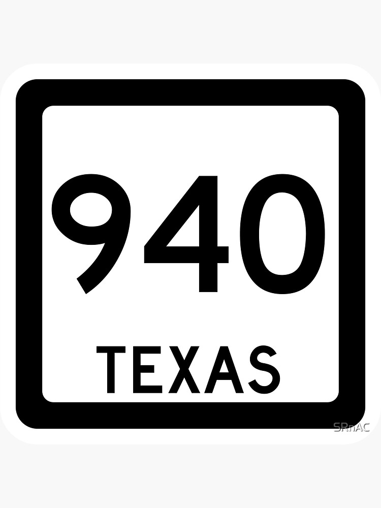 Texas State Route 940 (Area Code 940) by SRnAC