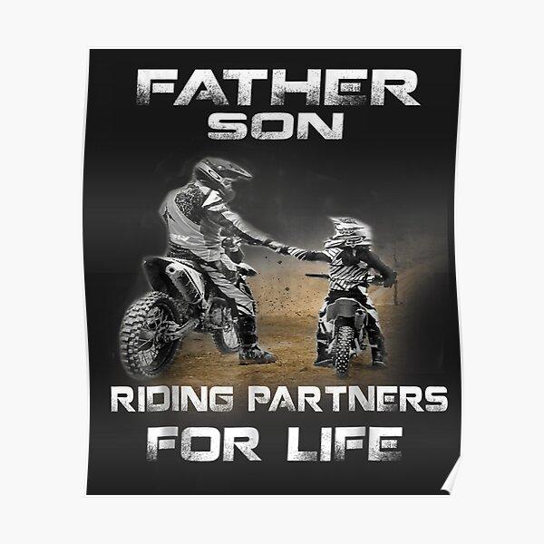 Motocross Supercross Brap Dirt Bike - Montar padre e hijo Póster