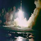 Apollo 17 Night Launch iPad Case by ipadjohn