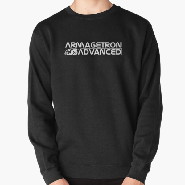 Armagetron Advanced Stacked Logotype in White Pullover Sweatshirt