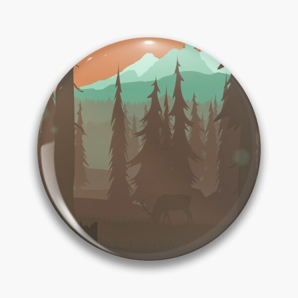 Forest Clearing Scene Pin