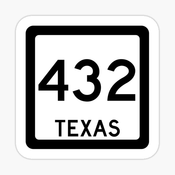 Texas State Route 432 (Area Code) Sticker