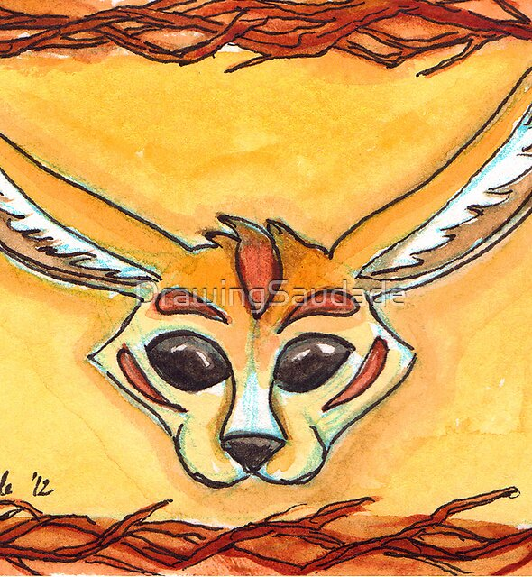 Fennec Fox Mask by DrawingSaudade