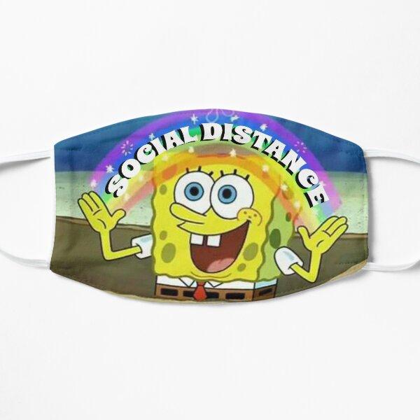 SPONGEBOB SOCIAL DISTANCE Flat Mask