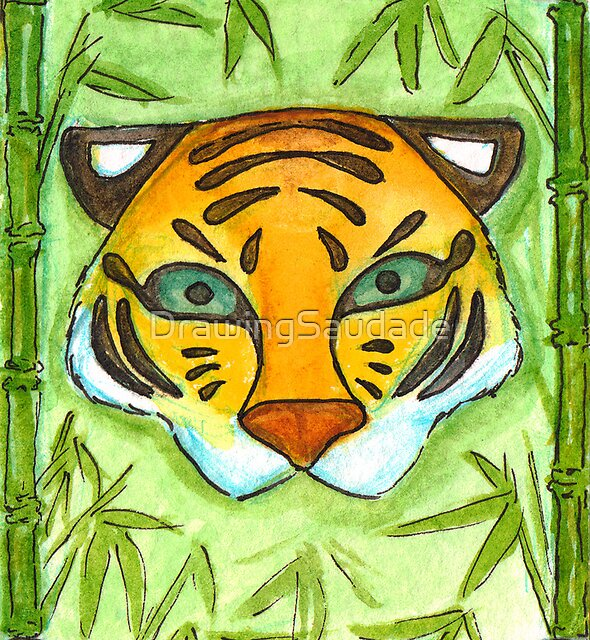 Tiger Mask by DrawingSaudade