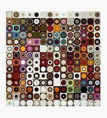 Circles and Squares 3. Modern Geometric Art Photographic Print