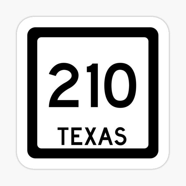 Texas State Route 210 (Area Code 210) Sticker