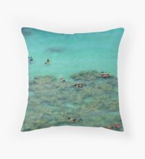 Snorkelling - travel photography print Throw Pillow