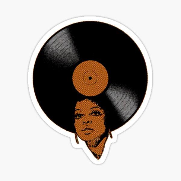 Afrovinyl (Brown) Sticker