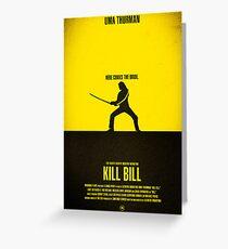 """Tarjeta de felicitación Cartel de la película - """"KILL BILL - Vol.1"""""""