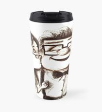 Carl and Ellie hugs Travel Mug
