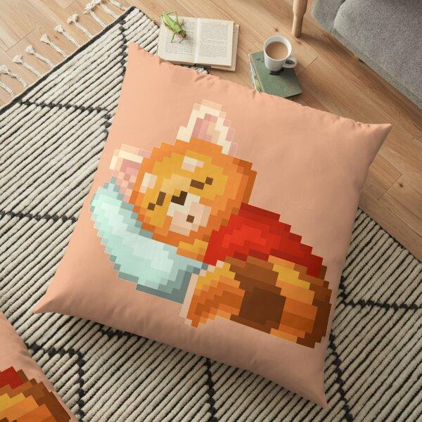 Pixelated Sleepin Fox Floor Pillow