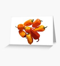 Graphic Peppers Greeting Card