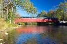 Old Red Millmont Covered Bridge by Gene Walls