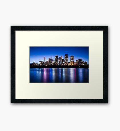 Sydney City Lights Framed Print