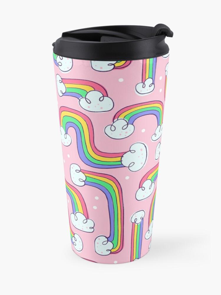 Alternate view of Curvy Rainbows Travel Mug