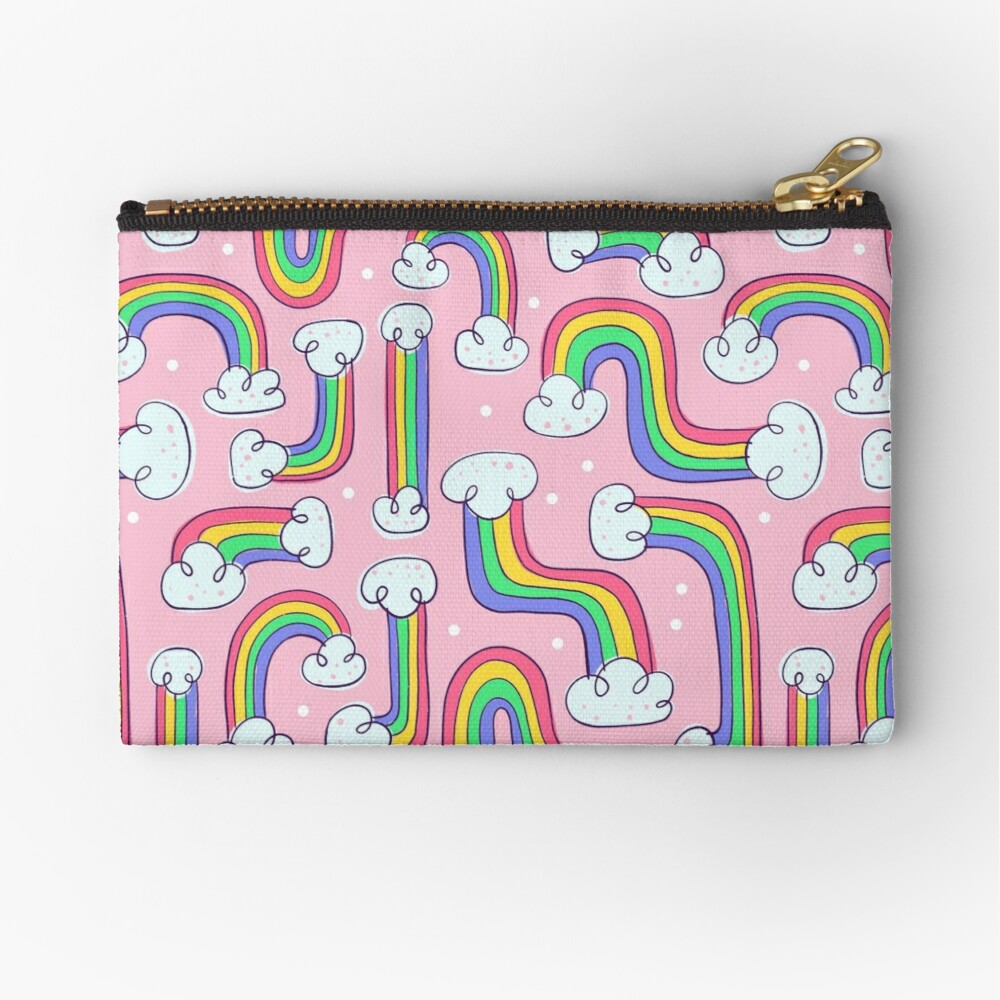 Curvy Rainbows Zipper Pouch