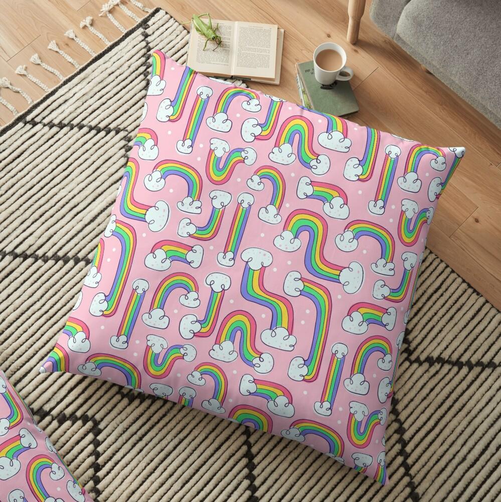 Curvy Rainbows Floor Pillow