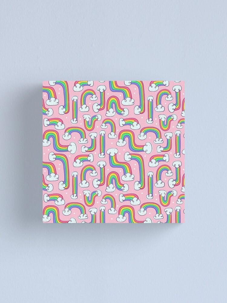 Alternate view of Curvy Rainbows Canvas Print