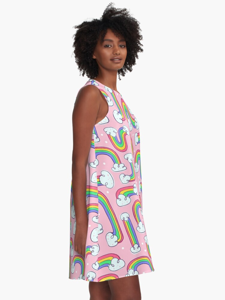 Alternate view of PRIDE Rainbows A-Line Dress