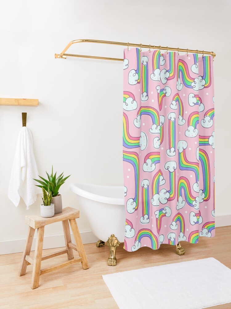 Alternate view of PRIDE Rainbows Shower Curtain