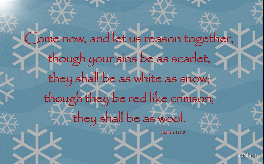 Thou Your Sins Be As Scarlet. . . by aprilann