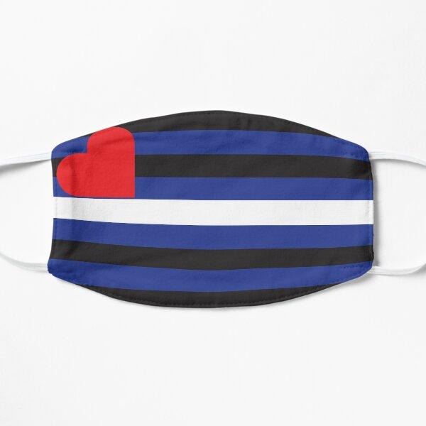 Leder Pride Flag Flache Maske