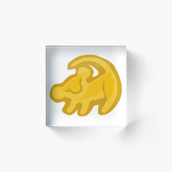 The Lion King but yellow Acrylic Block