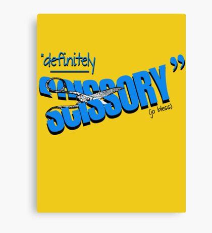 """Definitely Scissory"" Canvas Print"