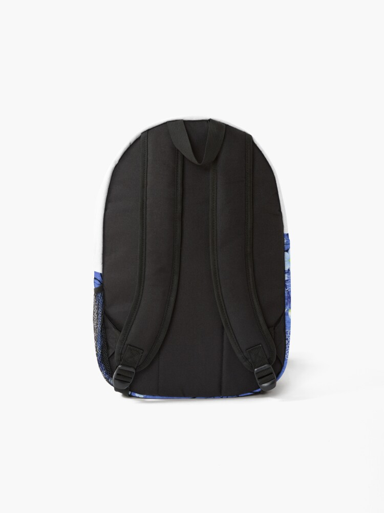Alternate view of Buddha in the Garden-Blue Backpack