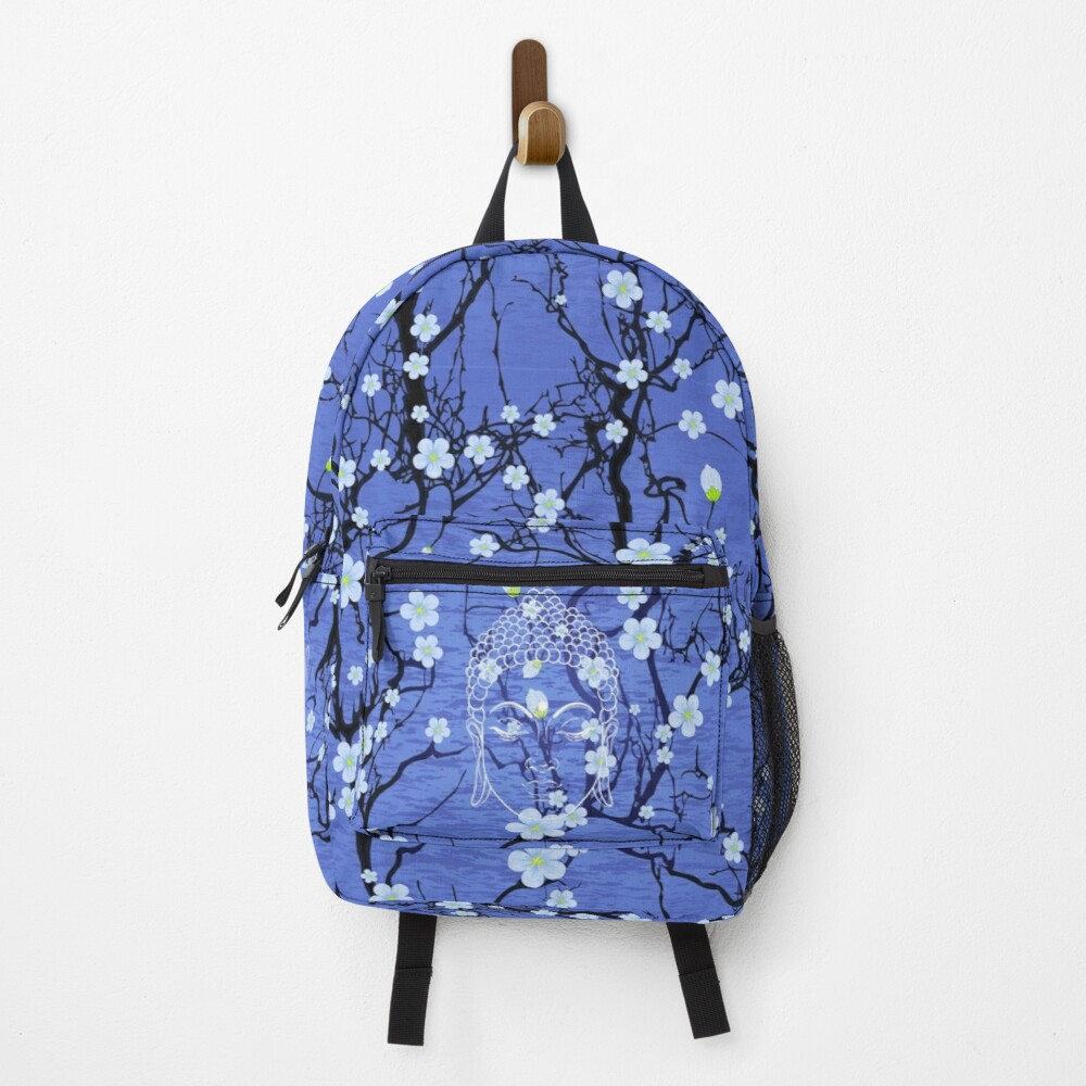 Buddha in the Garden-Blue Backpack