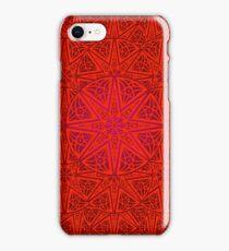 rashim red lace mandala iPhone Case/Skin