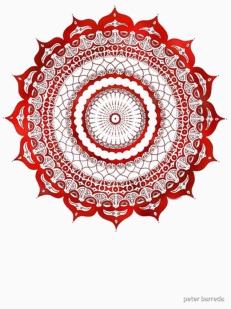 omulyana red mandala by peterbarreda