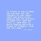 """a friend is ... by hennydesigns"