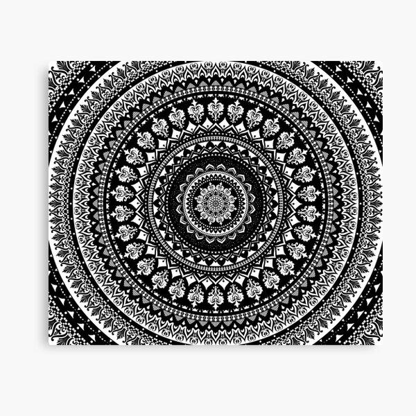 Mandala Monochrome 2 Canvas Print