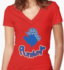Mario the Plumber Women's Fitted V-Neck T-Shirt