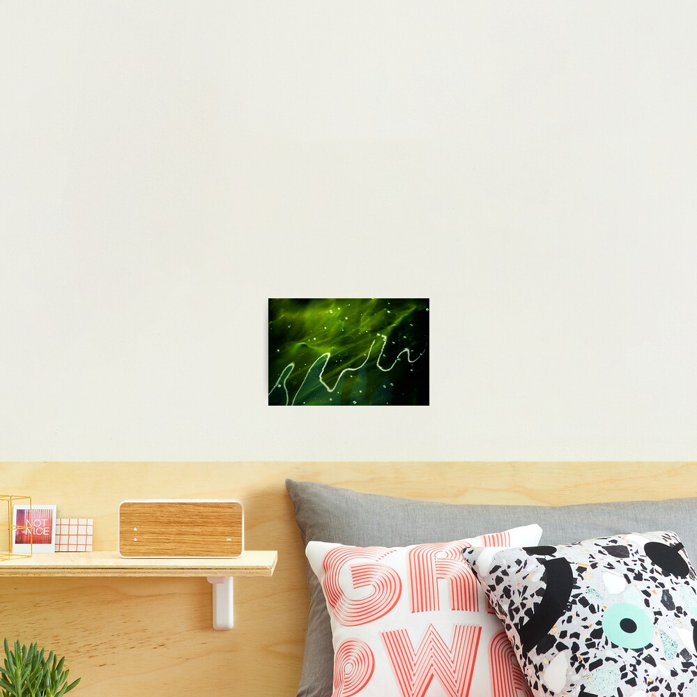 Green Algae and Water Photographic Print
