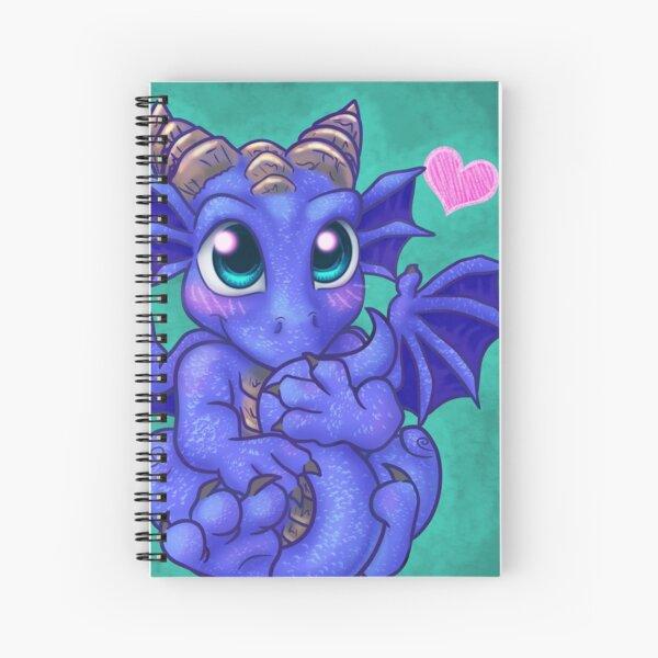 Cute Baby Blue Dragon Spiral Notebook